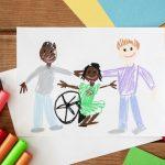 crianca-com-deficiencia-desenhada-a-mao-e-amigos_23-2148699770